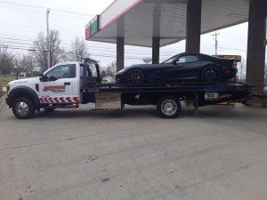 towing super car